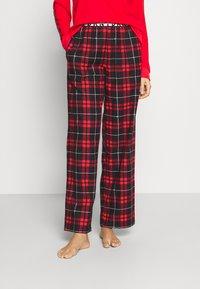 DKNY Intimates - SLEEP PANT - Nattøj bukser - ruby - 2
