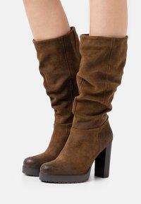 Steven New York - NANSAM - High heeled boots - brown - 0