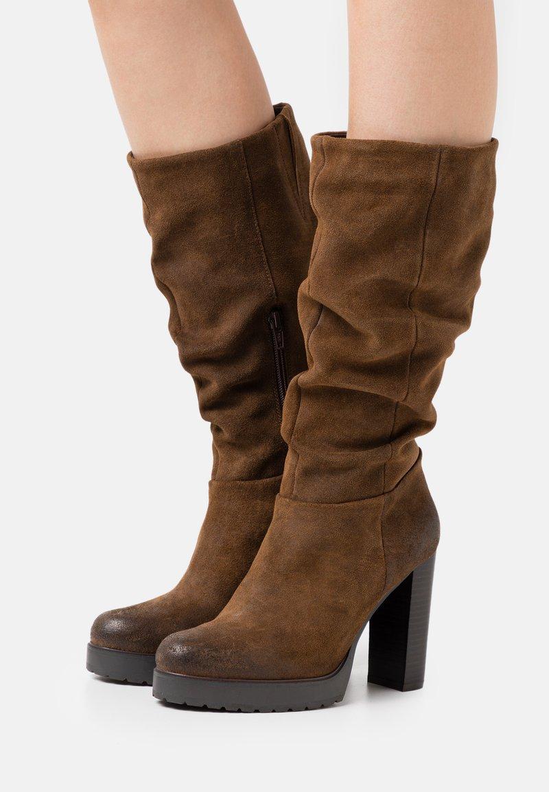 Steven New York - NANSAM - High heeled boots - brown