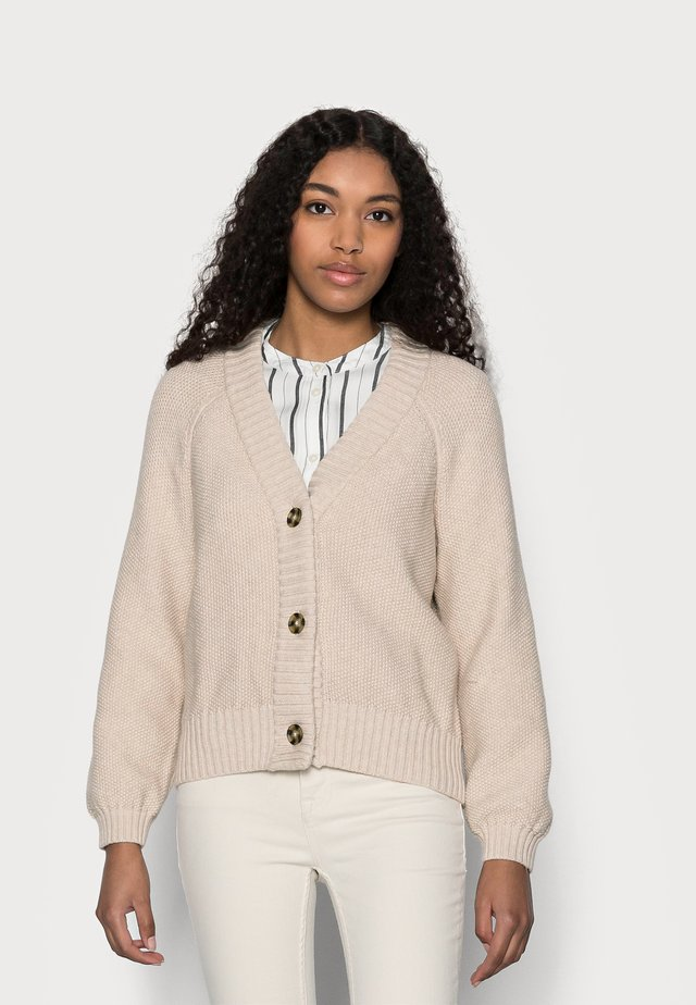 TEXTURED ABBREVIATED CARDIGAN - Vest - marshmallow