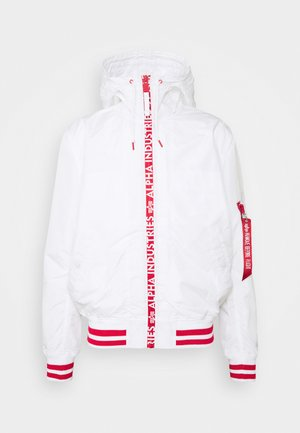 HOODED - Summer jacket - white