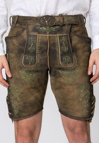 Stockerpoint - JAKOB - Leather trousers - green - 3