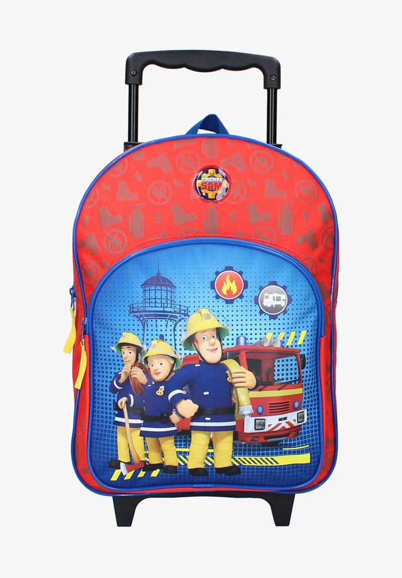Fireman Sam - KINDER-TROLLEY - Luggage - rot