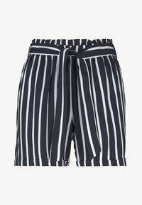 TOM TAILOR DENIM - RELAXED - Shorts - navy white stripe - 6