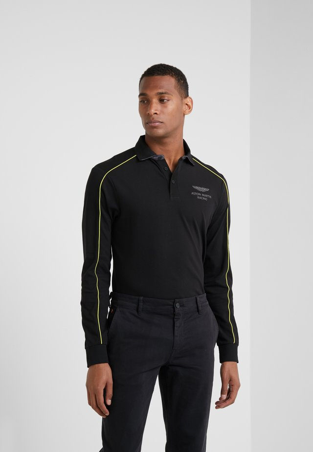 PIPED SEAM - Koszulka polo - black