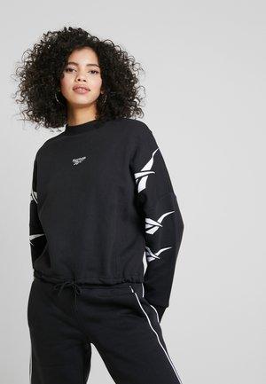 GRAPHIC SERIES CASUAL LONG SLEEVE PULLOVER - Sweatshirt - black