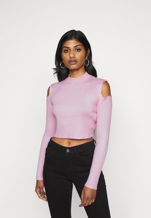 CUT OUT SHOULDER - Pullover - pink