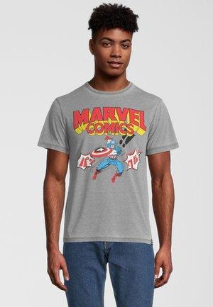 MARVEL COMICS CAPTAIN AMERICA  - T-shirt print - hellgrau