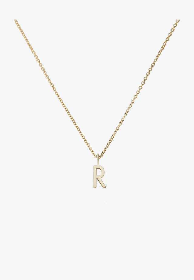 10MM A-Z CHARM WITH 45CM NECKLACE - GOLD - Necklace - gold
