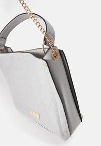 River Island - EMBOSSED GREY SLOUCH - Handbag - grey - 3