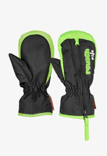 BEN  - Mittens - black / neon green