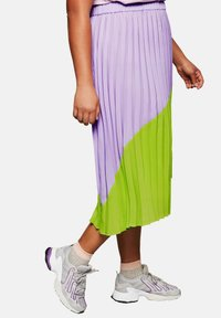 Sheego - A-line skirt - lime/lilac - 3