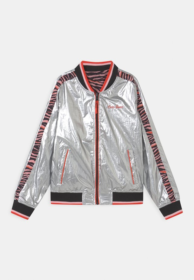 LUCCA REVERSABLE POLY - Bomber Jacket - coral