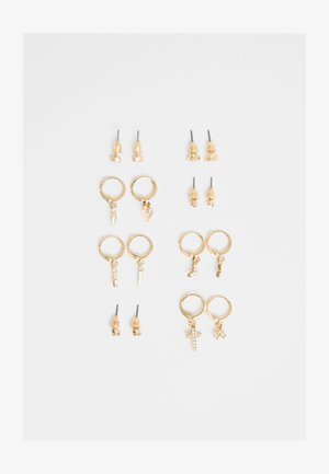 MIT PERLENBESATZ  - Earrings - gold