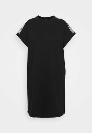 MERCERIZED DRESS  - Jerseykleid - black