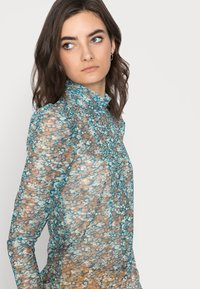 Vero Moda Tall - VMLULU HIGH NECK - Long sleeved top - mykonos blue/lulu - 3
