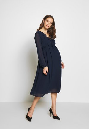 MIDI LONGSLEEVE DRESS - Sukienka letnia - navy