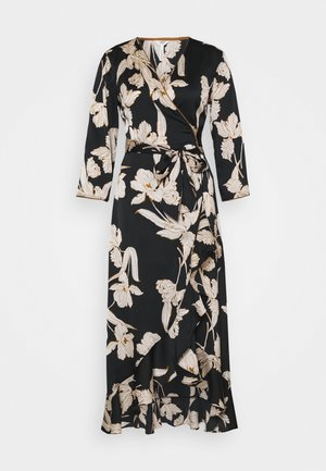 OBJLAUREN WRAP DRESS  - Kjole - black