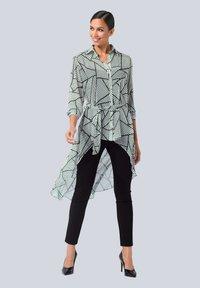 Alba Moda - Button-down blouse - weiß,schwarz - 1