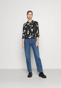 Monki - HELLA BLOUSE - Button-down blouse - black - 1
