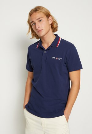 RETRO SHIELD RUGGER - Polo shirt - classic blue