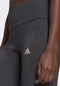 adidas Performance - LIN LEG - Leggings - dgsogr/clpink - 3