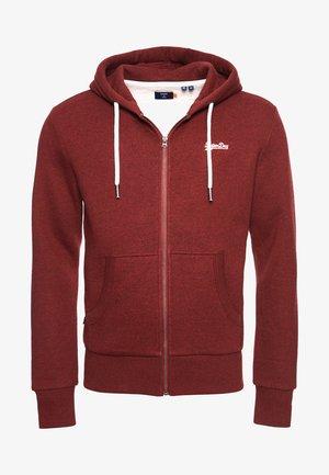ORANGE LABEL - Zip-up sweatshirt - rich red grit
