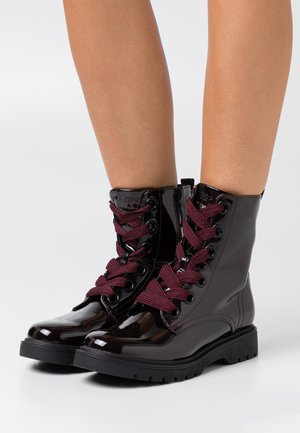 PARIS BOOTI - Lace-up ankle boots - bordeaux red