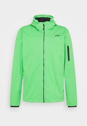 MAN ZIP HOOD JACKET - Softshellová bunda - aloe