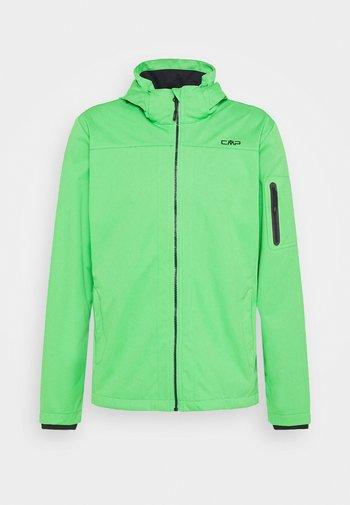 MAN ZIP HOOD JACKET - Soft shell jacket - aloe
