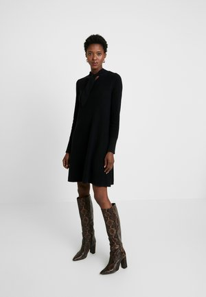 SKIN TIE - Jumper dress - black