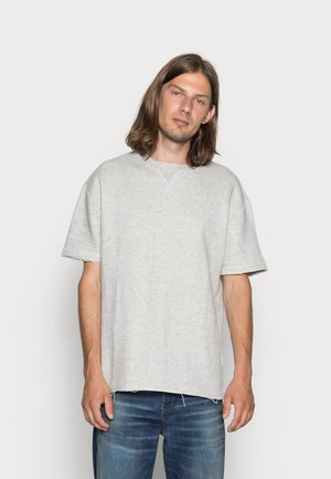 HERIRNGBONETERRY TEE - T-shirt - bas - light grey