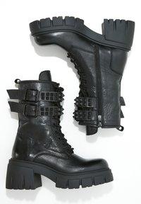 Inuovo - Botki kowbojki i motocyklowe - black blk - 2
