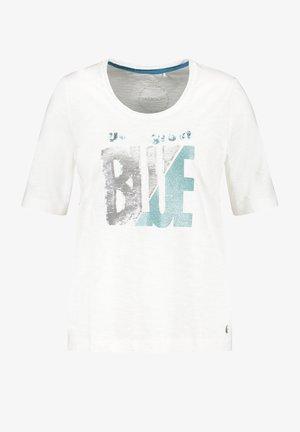 T-shirt con stampa - offwhite gemustert