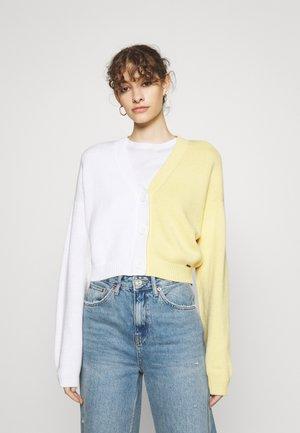 ECLECTIC PATTERN FASHION CARDI - Cardigan - yellow/white