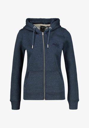 VINTAGE LOGO - Zip-up sweatshirt - nachtblau
