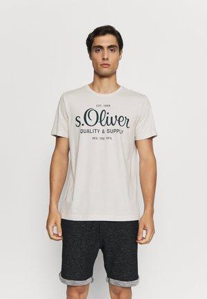 KURZARM - T-shirt con stampa - off-white