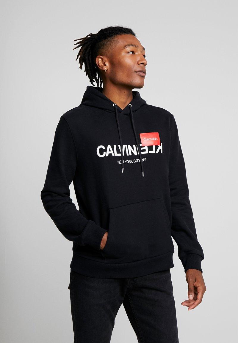 Calvin Klein - TEXT LOGO HOODIE - Hoodie - black
