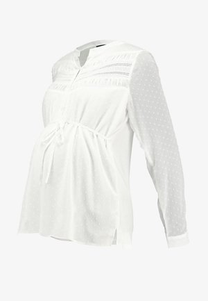 NURSING PLUMETI BLOUSE WITH BOW - Blouse - white