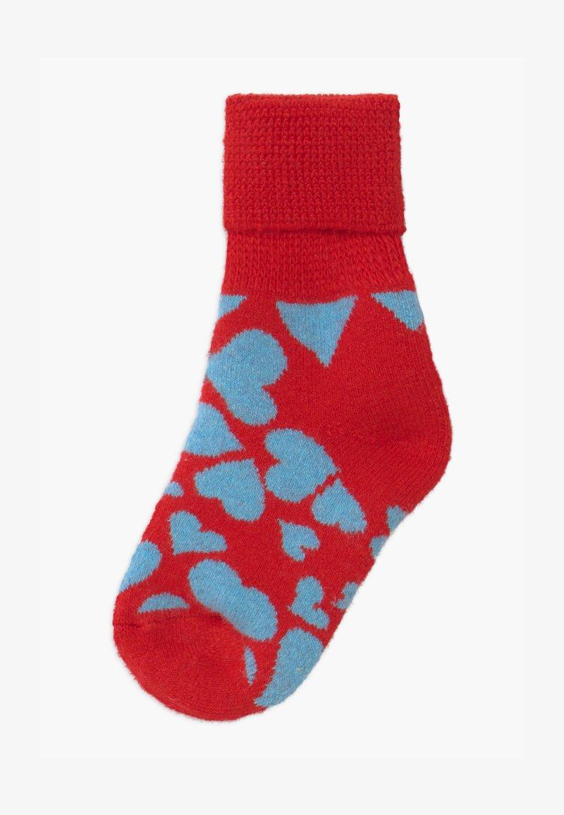 Happy Socks - KIDS HEART COZY  - Socks - red/blue