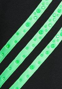 adidas Originals - SWAROVSKI HOODIE UNISEX - Luvtröja - black/shock lime - 7