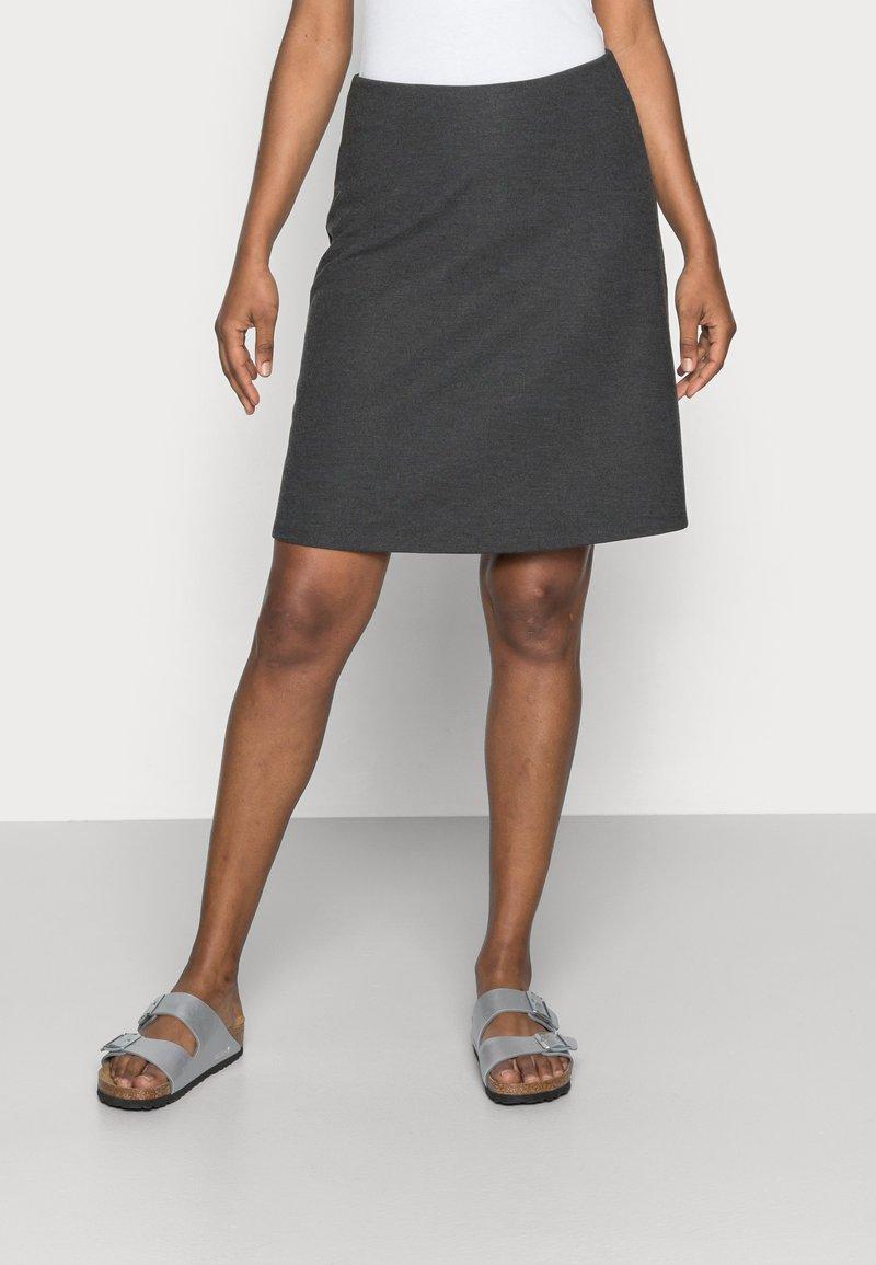 Freequent - Áčková sukně - dark grey melange