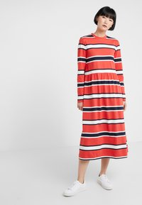 Libertine-Libertine - ZINK - Jersey dress - red stripe - 0