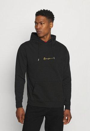 ESSENTIAL REGULAR OVERHEAD HOODY WITH SIGNATURE UNISEX - Sweatshirt - black
