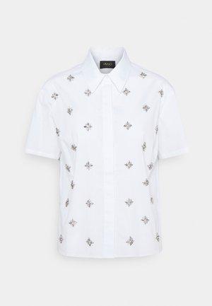 CAMICIA RICAMATA - Button-down blouse - bianco ottico
