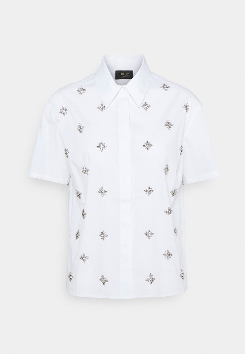 LIU JO - CAMICIA RICAMATA - Košile - bianco ottico
