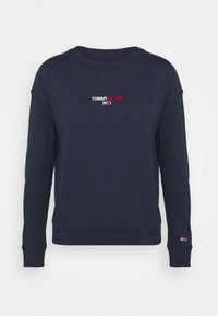 Tommy Jeans - LINEAR CREW NECK - Bluza - twilight navy - 5