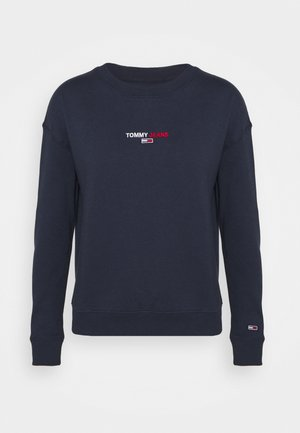 LINEAR CREW NECK - Sweater - twilight navy