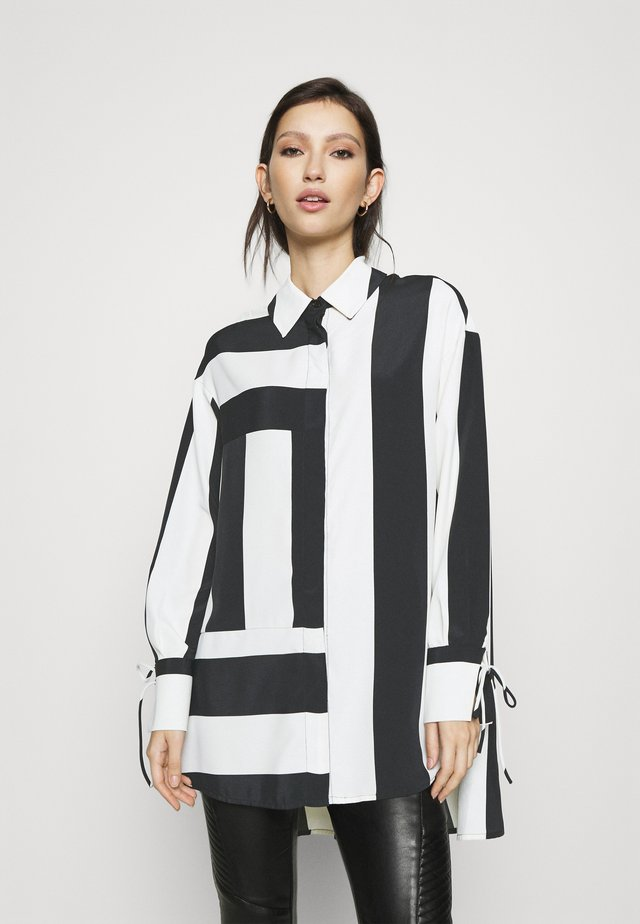 STRIPE CHUCK ON  - Camicetta - black/white