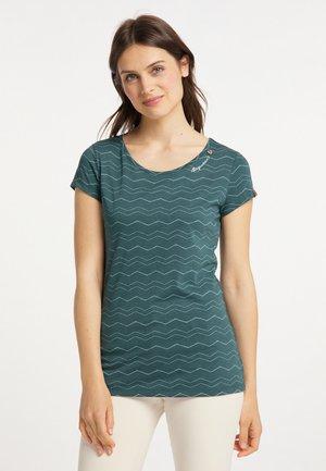 MINT CHEVRON - T-shirt print - dark green